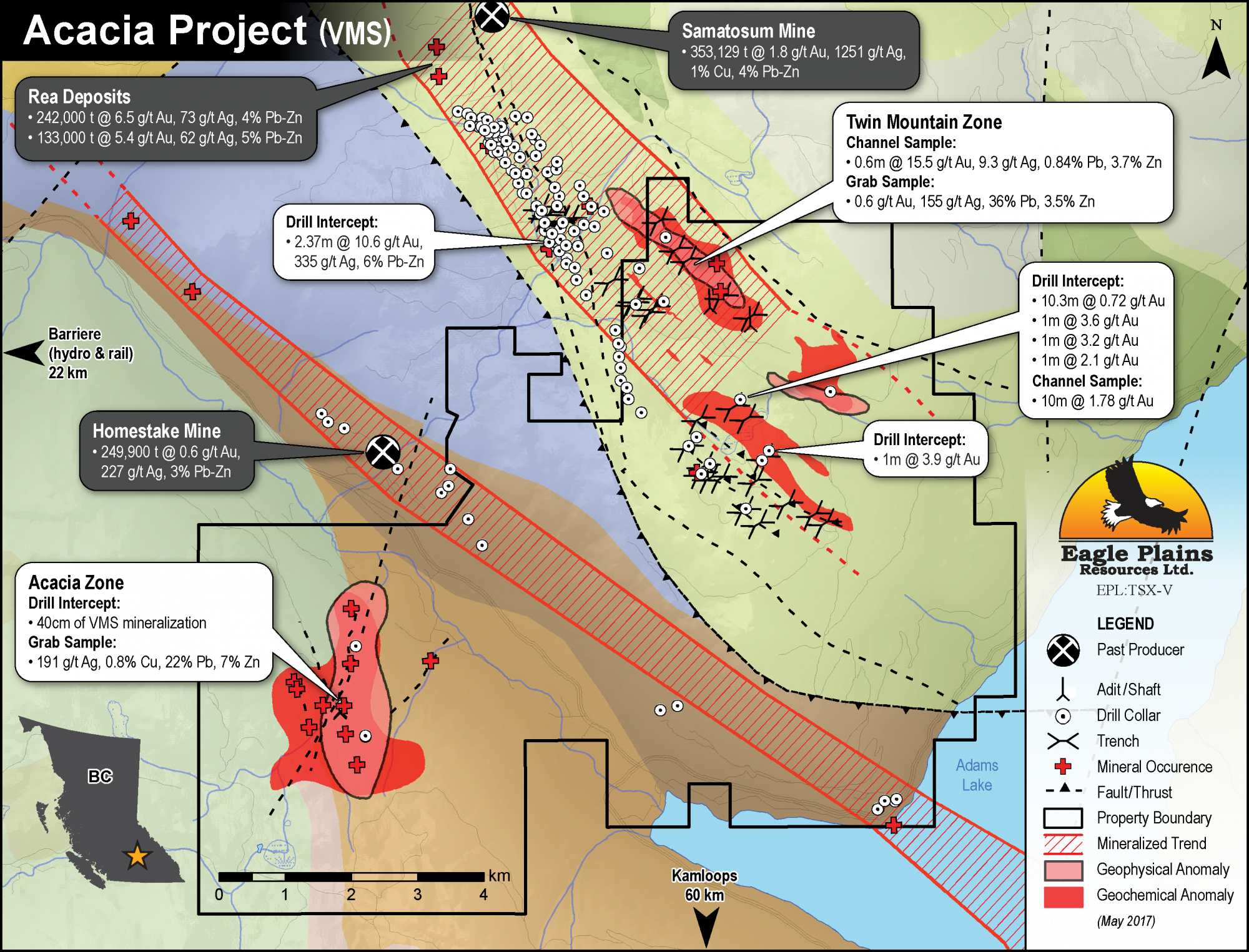 Eagle Plains - Acacia Project - Volcanic Massive Sulphide