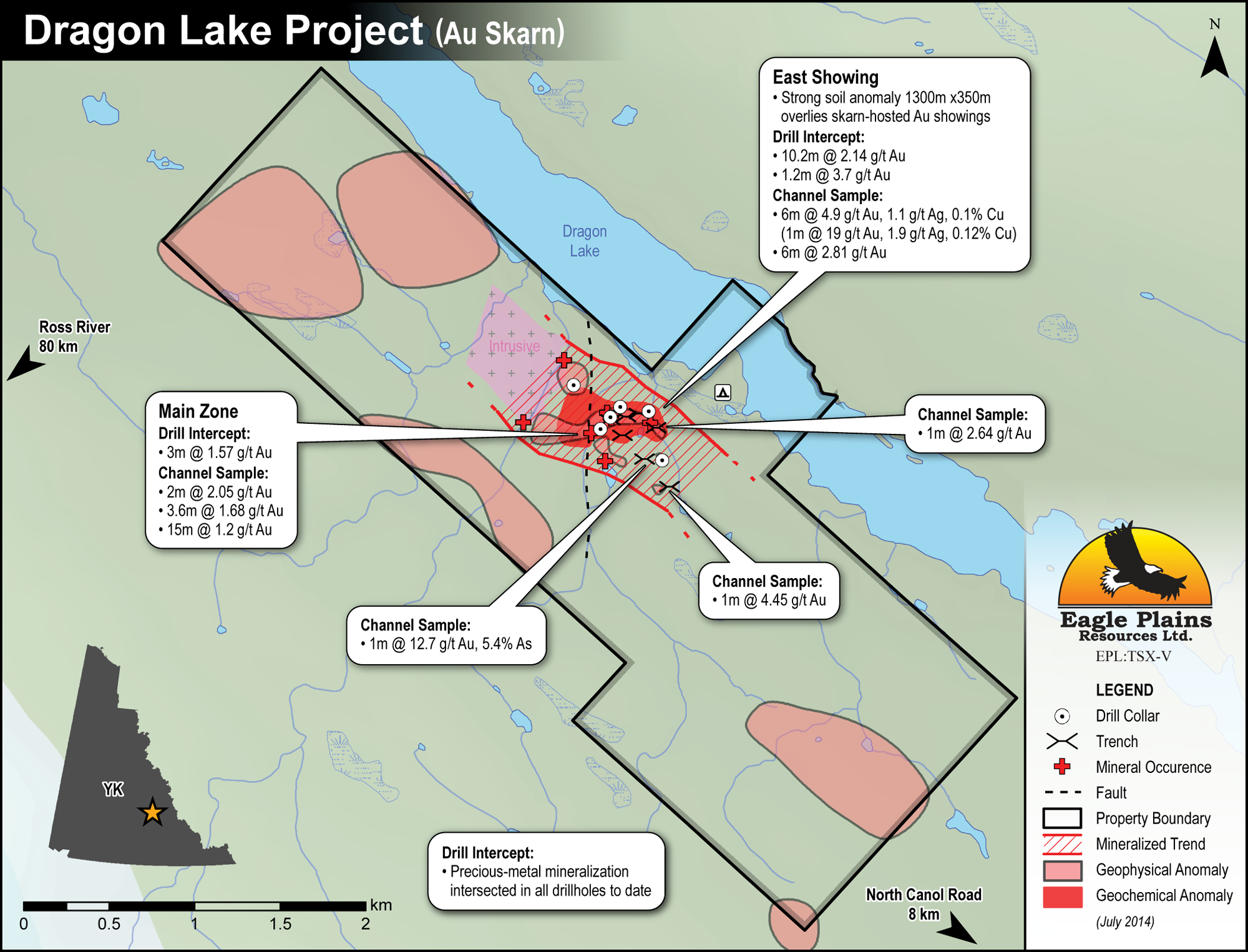 Eagle Plains Resources - Dragon Lake Project - Gold Skarn