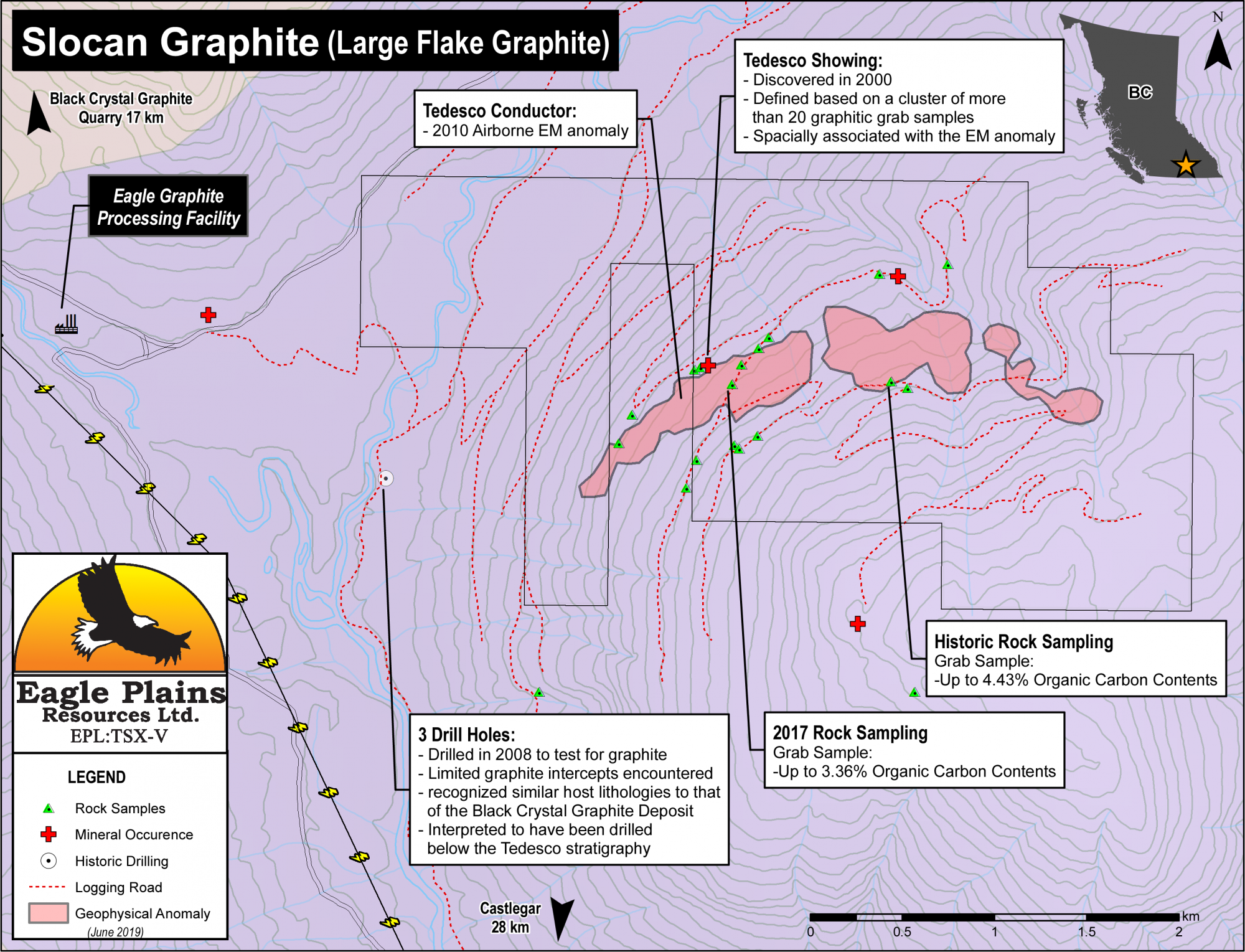 Slocan Graphite | Eagle Plains Resources (EPL:TSX-V) Mineral